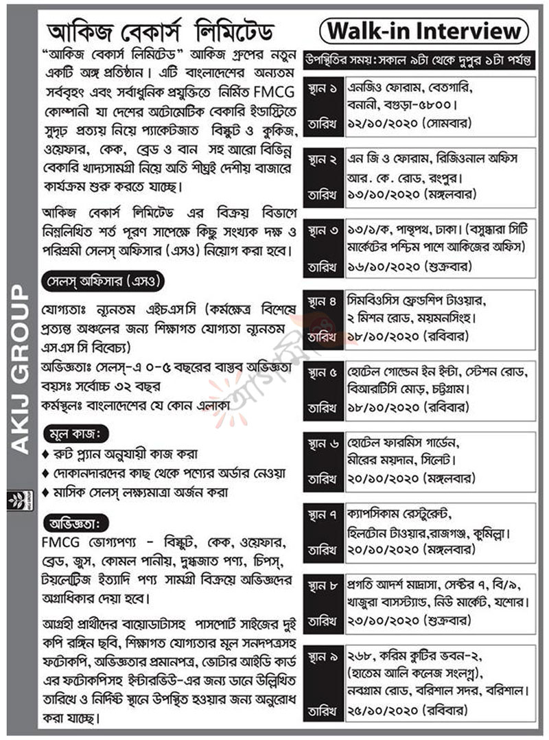 Akij Group Job Circular 2020